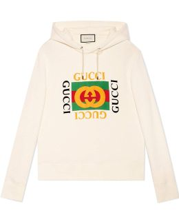 Print Hooded Sweatshirt