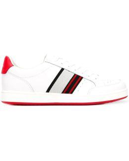 Red Stripe Low Top Sneakers