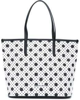 Perforated Circle Print Tote