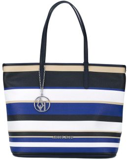 Striped Shopper Tote
