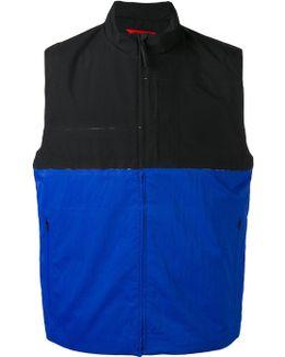 Colour Block Zipped Waistcoat