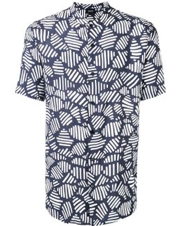 Mandarin Neck Printed Shirt