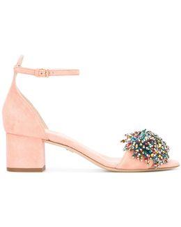 Women's 92823leetchi Pink Suede Sandals