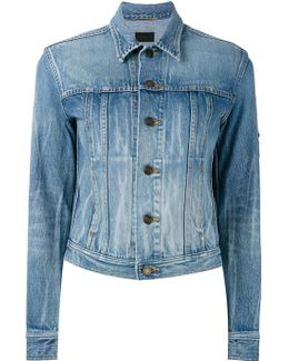 Chain Patch Short Denim Jacket