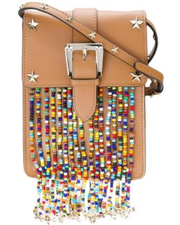 Studded Bead Detail Crossbody Bag
