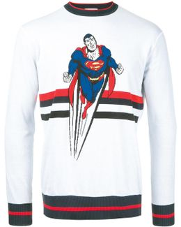 Superman Motif Jumper