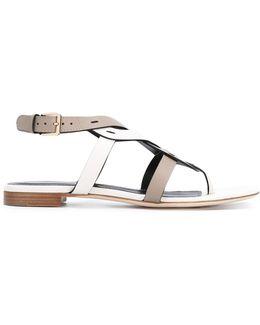 Woven Thong Sandals