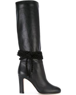 Braid Trim Boots