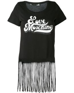 Fringed Retro Logo T-shirt