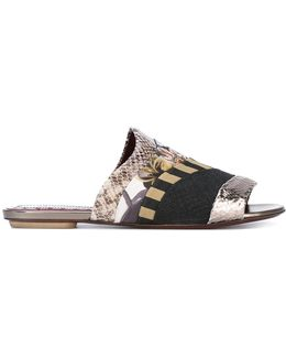 Patchwork Sandals