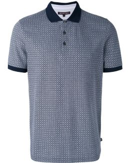 Grid Pattern Polo Shirt