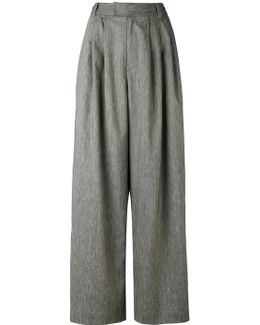 Pleated Detail Palazzo Trousers