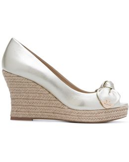 Bow Wedge Sandals