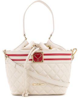 Quilted Drawstring Shoulder Bag