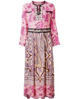 Embroidered Piasley Kaftan Dress