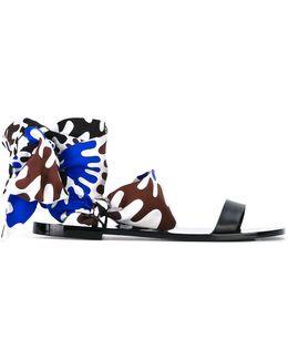 Textile Wrap Sandals