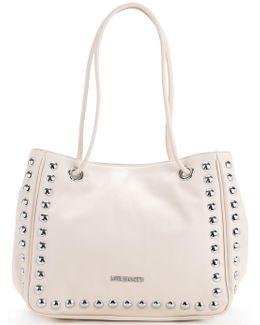 Studded Logo Shoulder Bag