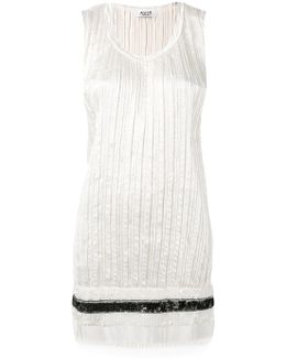 Distressed Pleated Vest Top