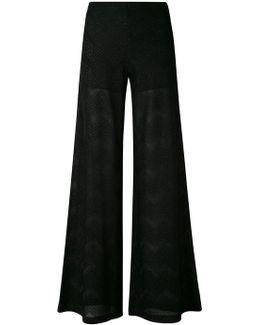 Metallic Chevron Trousers