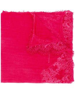 Cotton Stole With Lace Details