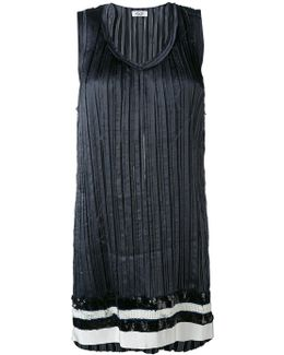 Long Pleated Tank