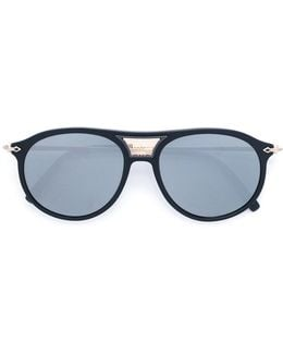 Aviator Sunglasses With Detachable Leather Side Shield Clip