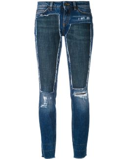 Deconstructed Skinny Jeans