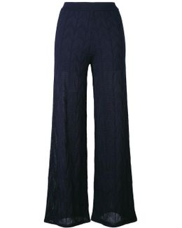 Knitted Semi-sheer Trousers