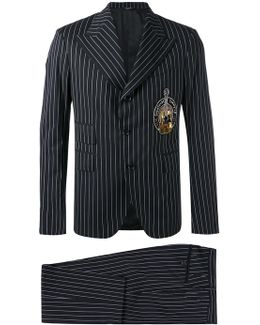 Pinstripe Musical Patch Suit