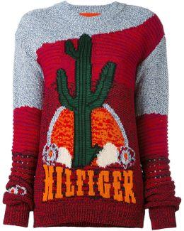Cactus Motif Jumper
