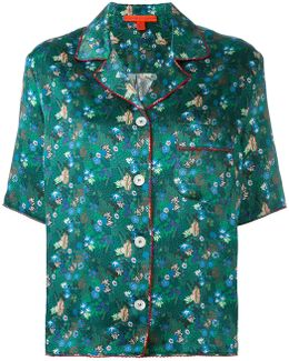 Floral Print Shortsleeved Shirt