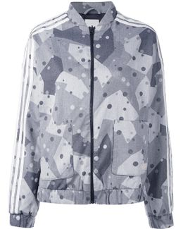Graphic Print Track Jacket