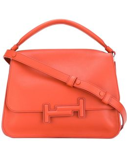 Double T Leather Tote Bag