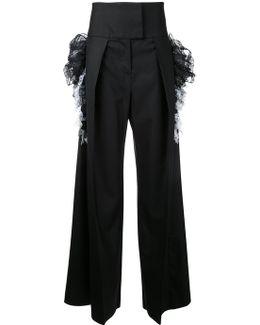 Wide-legged High-rise Trousers