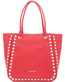 Silver Studded Tote Bag