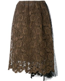 Lace And Netting Skirt