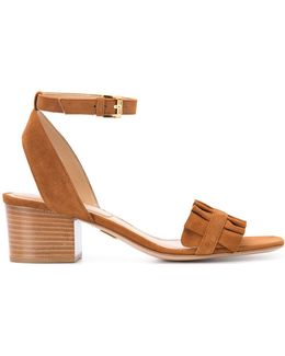 Pleated Trim Sandals