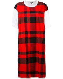 Checked T-shirt Dress