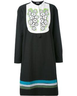 Embroidered Bib Dress