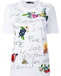 Printed Embroidered T-shirt