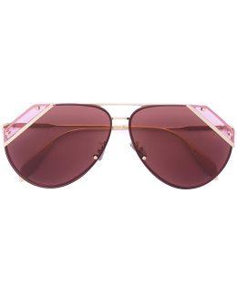 Cut Lens Pilot Frame Sunglasses