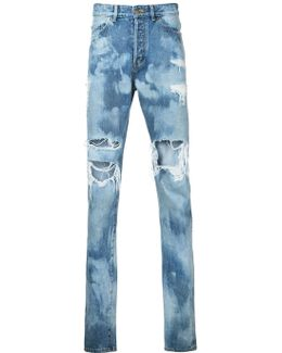 Distressed Bleach Jeans