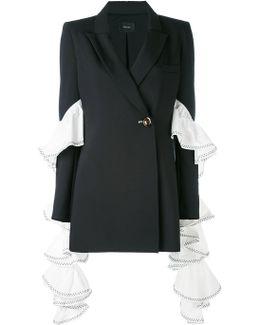 Extended Ruffle Sleeve Blazer