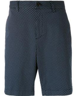 Dot Print Chino Shorts