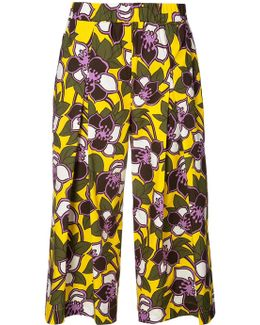 Floral Cropped Trousers