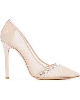 Pointed Lace Pumps