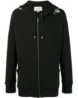 Oversized Dragon Embroidered Hoodie