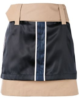 Silk Panel Mini Skirt