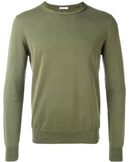Slashed Crew Neck Jumper