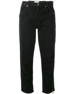 Zippered Denim Pants